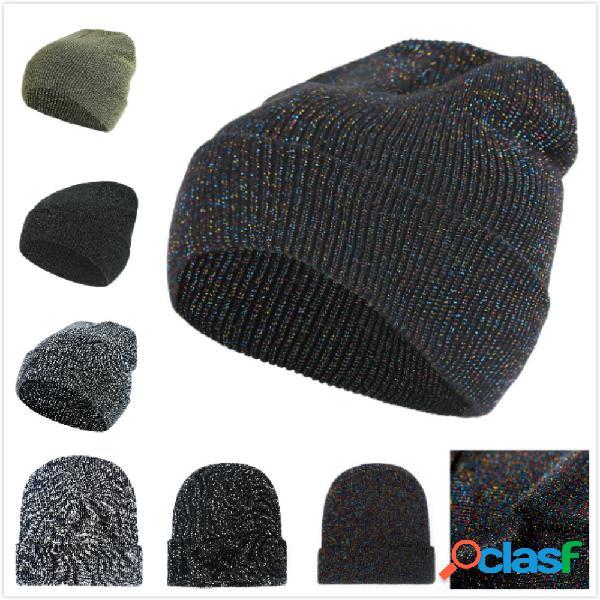 Mulheres homens inverno estrela tricô de esqui chapéu ao ar livre quente retro cuffed acrílico gorro chapéu