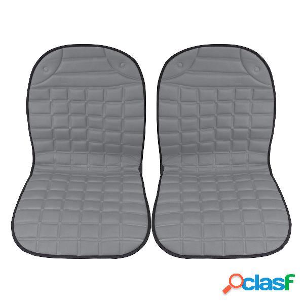 Almofada aquecida de assento duplo para carro de algodão 12v, aquecedor, capa doméstica, tapete aquecedor elétrico