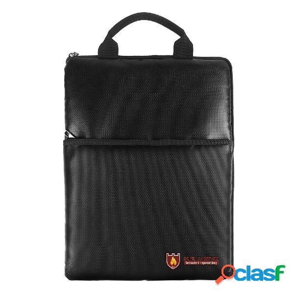 Ipree® fireproof document safe bolsa maleta à prova d'água suporte para pasta de dinheiro acampamento de armazenamento