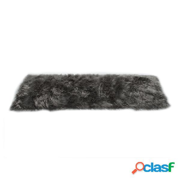 Pele artificial longa de pele artificial retângulo fofo cadeira sofá capa tapete tapete tapete