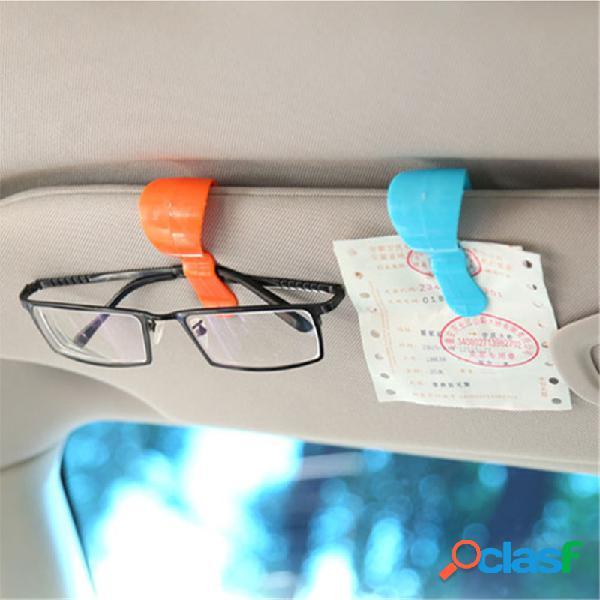 Visor de proteção solar multifuncional para carro de 2 unidades óculos clipes de suporte de cartão de suporte de montagem fixa