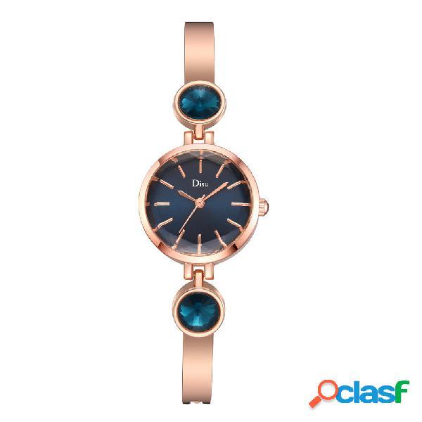Mulheres estilo elegante relógio de diamantes de aço inoxidável relógio pulseira de quartzo delicado relógio