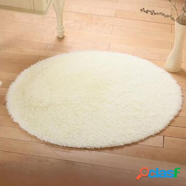 Tapete bege roung casa tapete sala de estar decorativo soft longo cabelo tapete tapete para pé