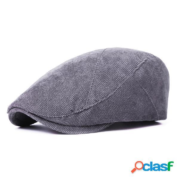 Homens mulheres cor sólida algodão boina cap sombrinha casual ao ar livre ajustável chapéu