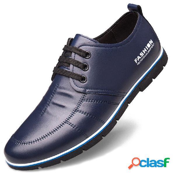 Sapatos masculinos de microfibra de couro antiderrapante tamanho grande soft com solado casual para dirigir