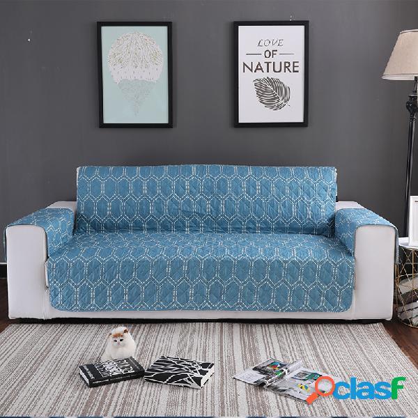 Flor azul padrão anti-scratch pet sofá móveis protetor mat à prova d 'água cachorro tapete do sofá do gato