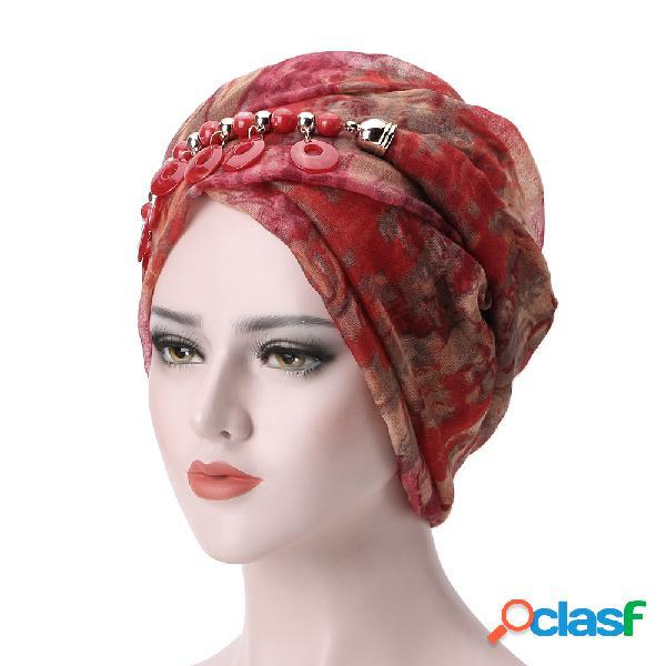 Mulheres bali fio colar lenço étnico gravata turbante cap árabe lenço envoltório