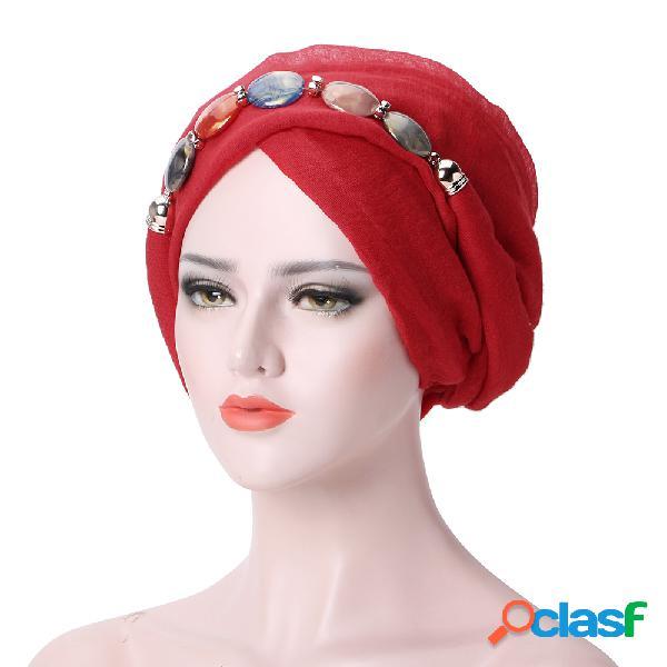 Mulheres selvagem bali fio colar lenço étnico gravata turbante cap árabe lenço envoltório