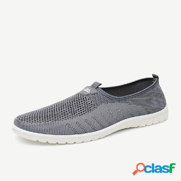 Tecido de malha masculina de tamanho grande soft tênis casual para caminhada