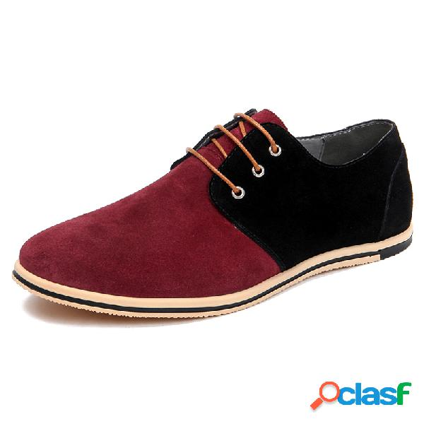 Couro masculino com costura antiderrapante tamanho grande soft sapatos casuais