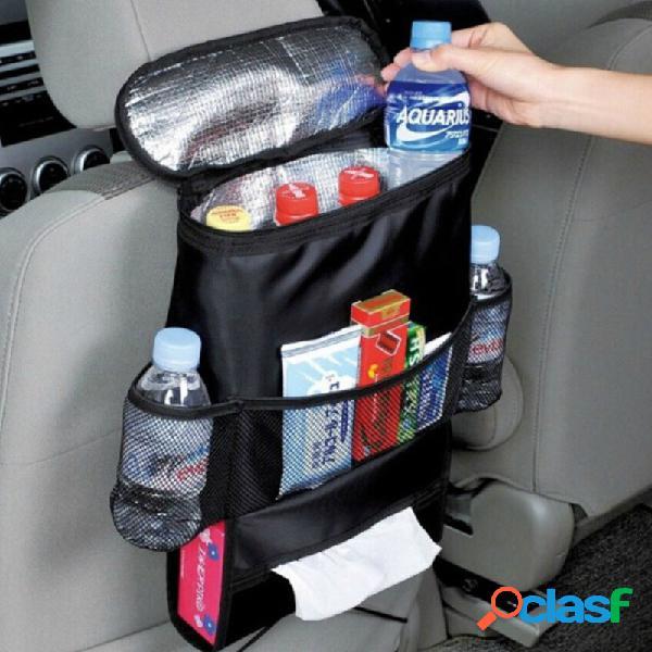 Armazenamento ao ar livre multi-funcional do banco de carro bolsa oxford heat fresh retaining bolsa