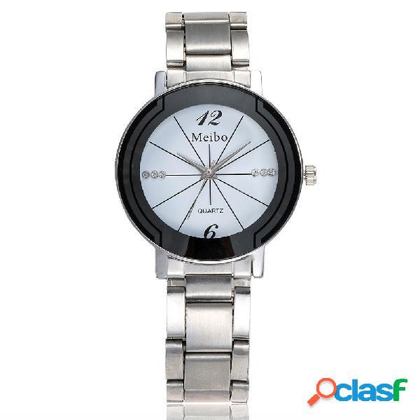 Classic quartz casal criativo relógio de aço inoxidável relógio minimalista casual relógio de pulso presentes