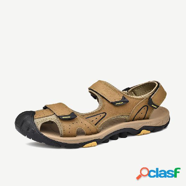 Dedo do pé anticolisão masculino ao ar livre gancho sandálias antiderrapantes para caminhada