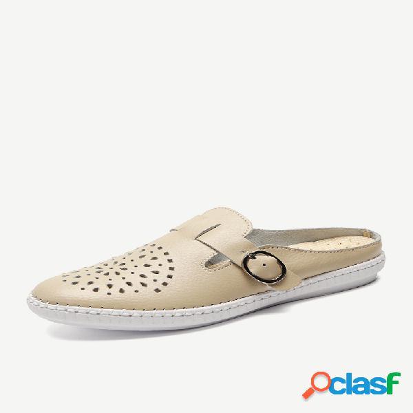 Deslizamento oco confortável para fora em sapatos baixos preguiçosos sem encosto