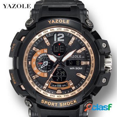 Relógio dos homens do esporte da multi-função luminous waterproof o relógio de pulso eletrônico digital
