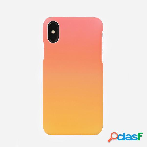 Telefone bonito caso da forma alaranjada do inclinação da cor sólida da mulher para o iphone