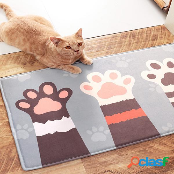 Tapete de entrada antiderrapante bonito cachorro tapete de entrada tapete para decoração de casa tapete tapete interno