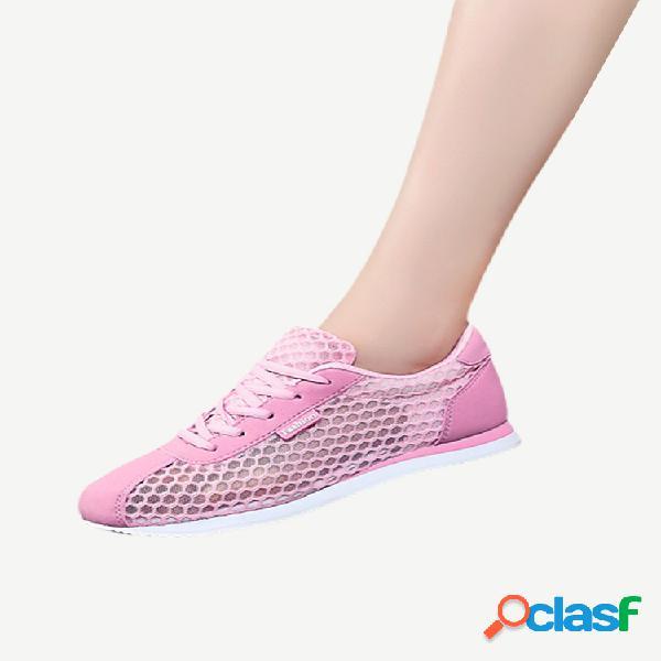 Temporada nova oca respirável de malha tênis de fundo plano tênis esportivo de corrida baixa para ajudar os alunos sapatos de malha