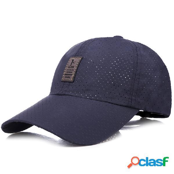 Tampão de secagem rápida respirável da máscara exterior ajustável ajustável do boné de beisebol da malha