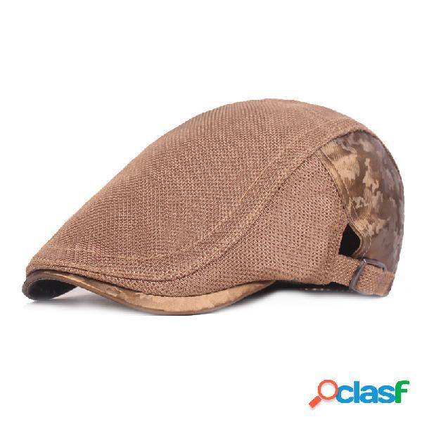 Algodão cor correspondência beret ajustável cor sólida tampão de golfe newsboy tampão cap ivy irlandês caça chapéu