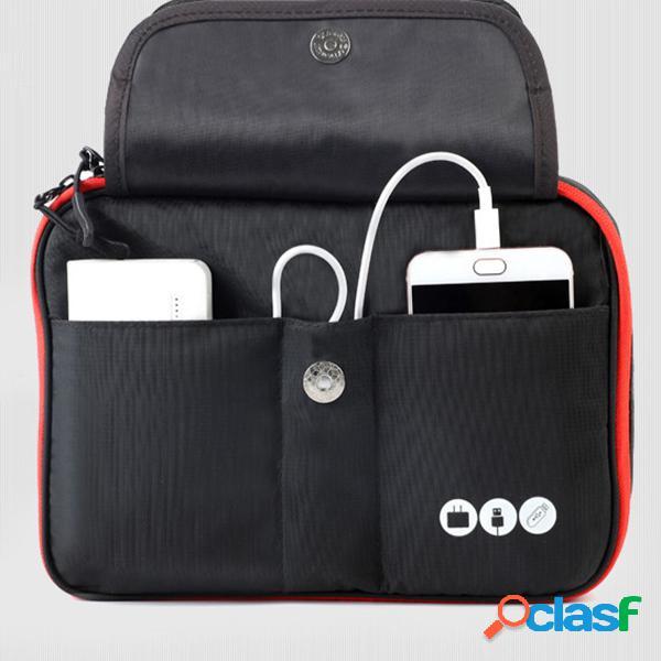 Armazenamento multifuncional bolsa carregamento tesouro móvel disco rígido usb power headset acabamento pacote
