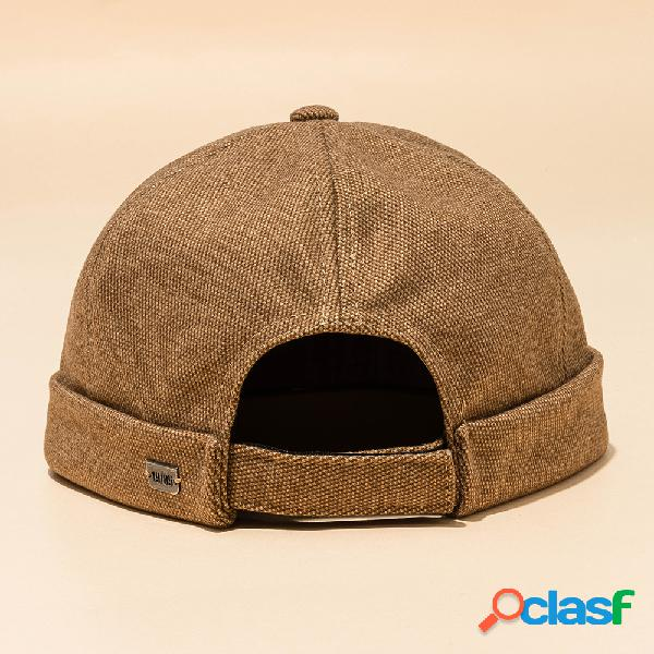 Homens mulheres cor sólida seção chapéu hip hop chapéu marinheiro cap algodão chapéu caveira caps
