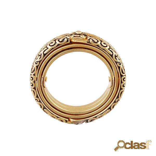 Anel de bola astronômica vintage flip deformação anel cósmico casal anel de letras criativas anel de dedo