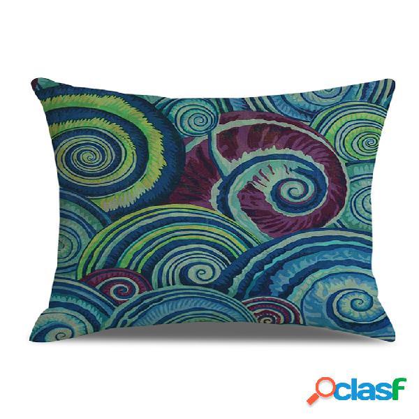 Elemento abstrato eddys impressa em linho capa de almofada decoração de sofá doméstico cadeira de escritório para carro fronha