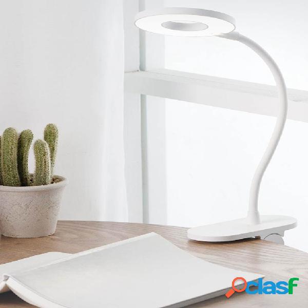 Luz de mesa com clipe recarregável usb yeelight led proteção para os olhos com luz de toque dimmer 3 modos de lâmpada de leitura