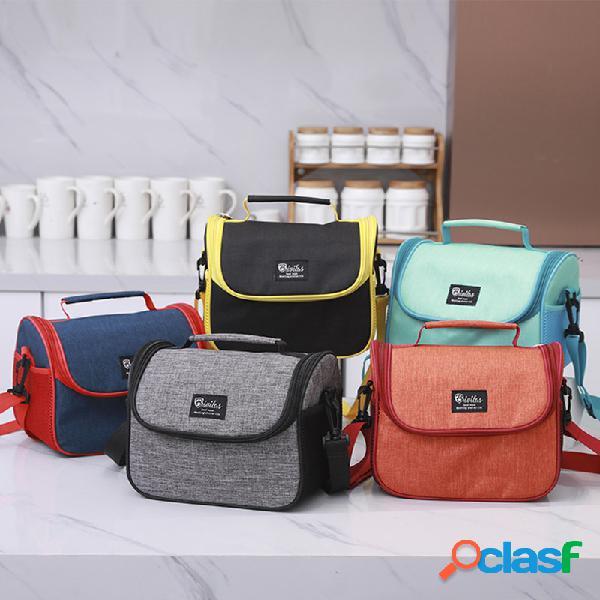 Portátil de viagem isolada cooler lunch bolsa com alça de ombro escritório ao ar livre piquenique tote bolsa