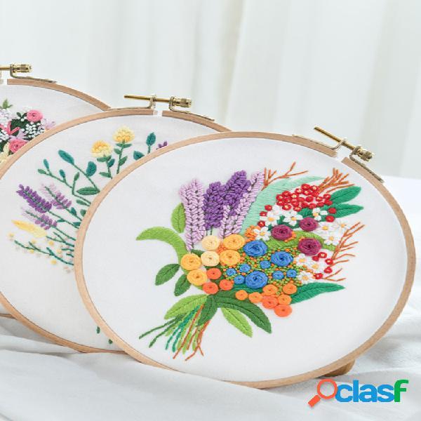 3d bouquet flower impresso 3d diy bordados kits arte costura pacote de tricô artesanal iniciantes diy