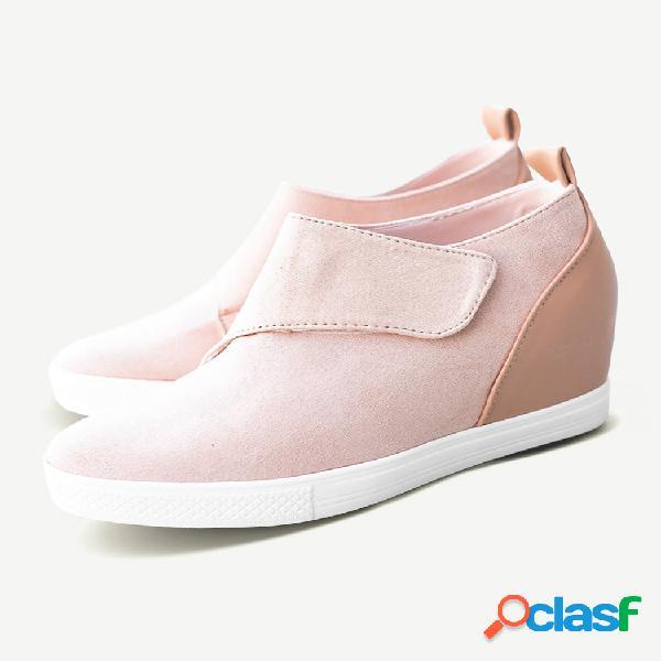 Sapatos casuais femininos de tamanho grande gancho