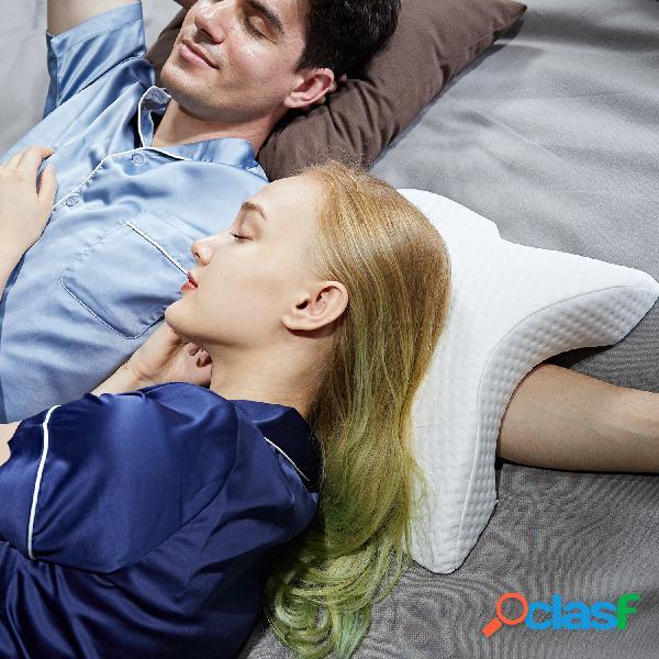Travesseiro de espuma de memória de esqueleto arqueado de recuperação lenta travesseiro de pressão zero travesseiro de casal de seda