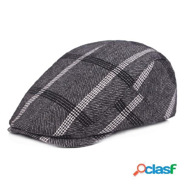 Boné de vento universitário retrô casual chapéu boina masculina feminina chapéu