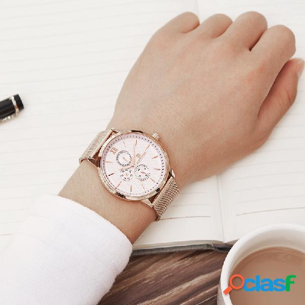 Relógio de aço inoxidável ultrafino para homem data display sports waterproof quartz watch