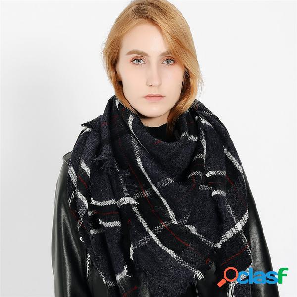 Babete de cachecol de caxemira para mulher toalha