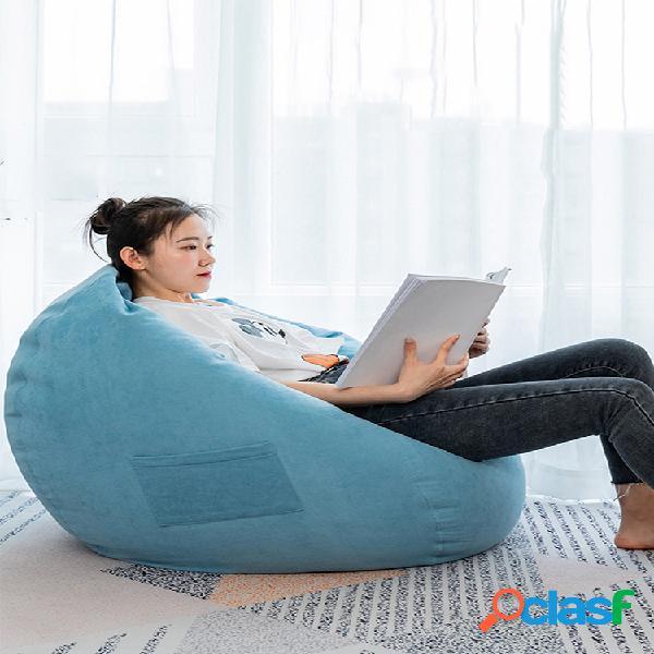 (recheios incluídos) jogos internos soft feijão bolsa cadeiras para adultos descansar sofá preguiçoso sofá espreguiçadeira com bolso lateral 70 * 80cm