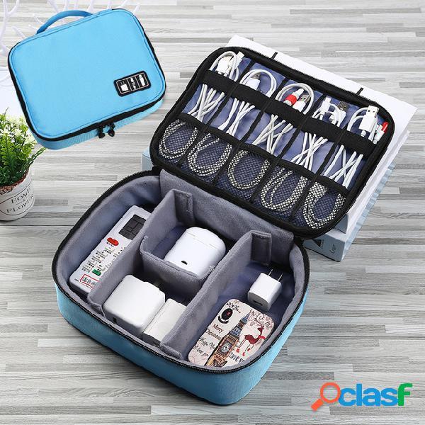Armazenamento digital bolsa u disk acessórios para telefonia móvel armazenamento bolsa cabo de dados do carregador armazenamento multi-funções bolsa