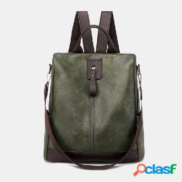 Mulheres anti roubo multifuncional impermeável casual patchwork backpack