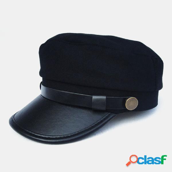 Boinas de lã das mulheres dos homens unissex quentes chapéus de taxista jornaleiro gatsby gorro tampas planas
