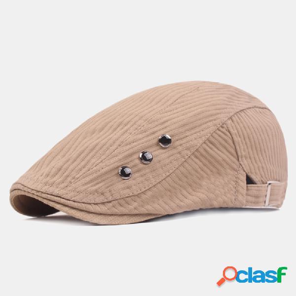 Bonés de boina de algodão lavados para homens ao ar livre viseira ajustável para frente chapéu
