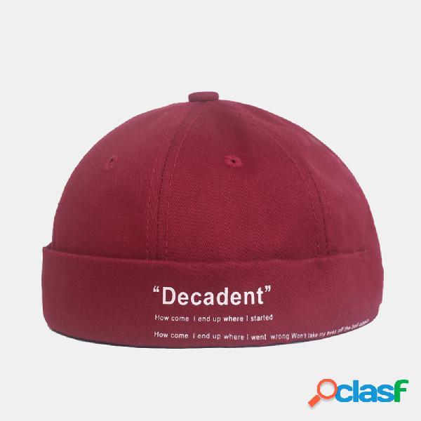 Homens e mulheres retrô algemados cor sólida chapéu caveira cap sem aba chapéus
