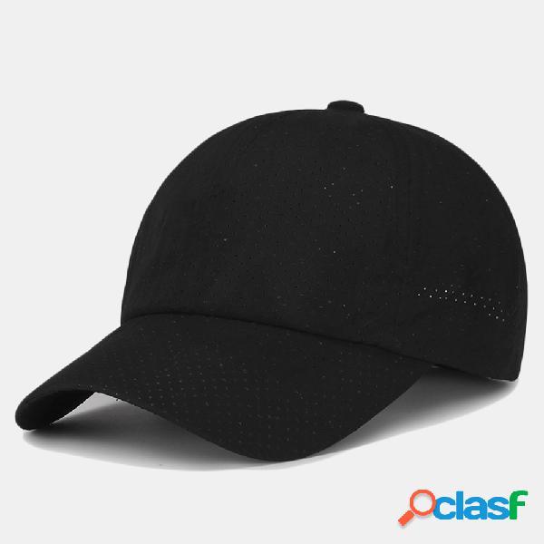 Boné de beisebol respirável sombra ao ar livre boné de secagem rápida casual chapéu