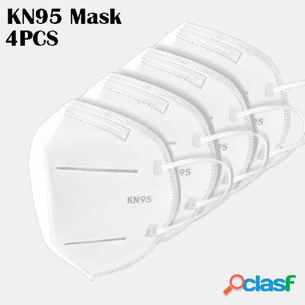 4 peças / pacote 0f kn95 máscaras aprovadas no teste gb-2626-kn95 pm2.5 máscara de proteção respiratória com filtro
