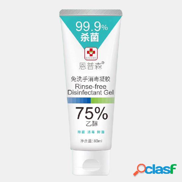 Desinfetante para as mãos descartável 80ml 75% álcool bacteriostático gel desinfetante portátil sem lavagem
