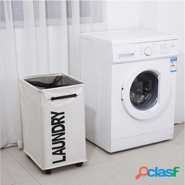 Retângulo dobrável cestas de armazenamento de roupa roupas bin bin brinquedos sacos de lavar cesto