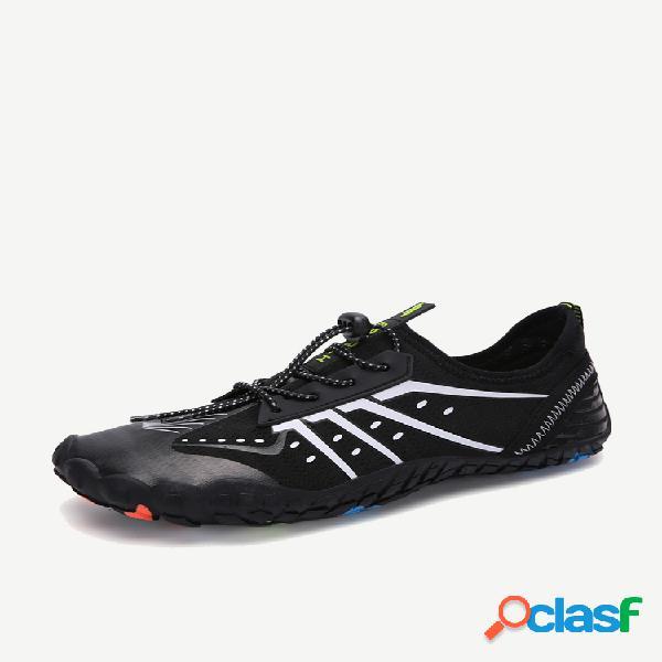 Sapatos masculinos de secagem rápida respirável ao ar livre para caminhada vadear praia