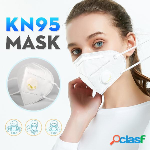 Máscaras kn95 com válvula de respiração aprovada no teste gb-2626-kn95 pm2.5 máscara de proteção de filtro