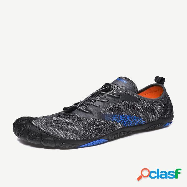 Sapatos masculinos de secagem rápida aquática com biqueira de proteção e sapatos de casamento