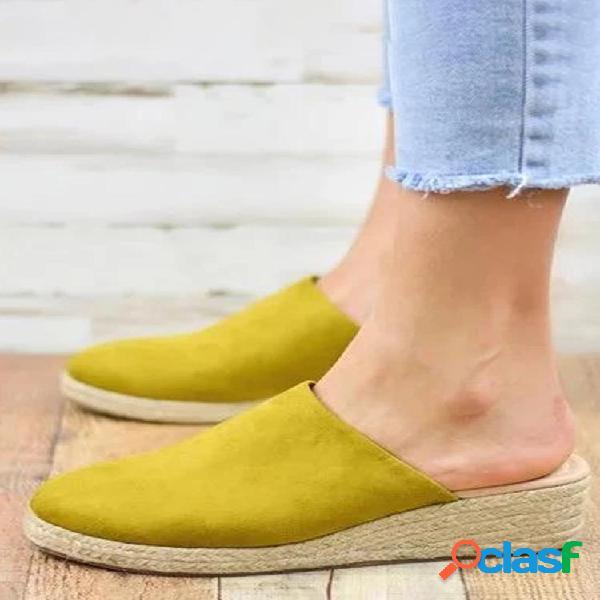 Sandálias femininas de dedo do pé fechado para vestir casual alpercatas sandálias slingback